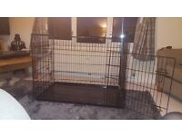 large dog crate 107cm wide 78cm tall 71cm deep