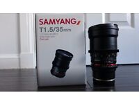 Samyang 35mm T1.5 AS UMC II Cine Lens - Sony FE Fit