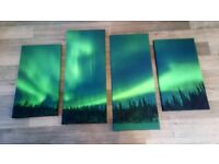 CANVAS PRINT - NORTHERN LIGHTS - 4 SECTIONS