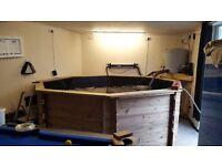 10 ft freestanding koi / fish pond