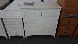 Cameo Stone White 3+2 Drawer Chest by Julian Bowen Can Deliver