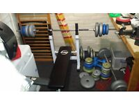 Bench press - with bars and weights
