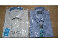 """12 Assorted Branded Formal Mens Shirts 17""""+17.5"""" - New and in original packaging"""