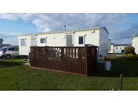 2 bed caravan for hire, West Sands, Selsey. Close to the embassy.
