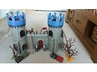 Playmobil castle with knight figures