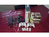 Xbox 360 with upgraded 320gig hard drive + extra's