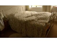 Double metal bed stead with mattress