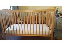 Wooden cot for sale 120x60