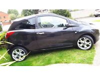 Ford KA Black, silver Alloys, Low mileage, MOT November, immaculate interior!