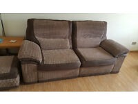 3 SEAT - ELECTRIC POWER (RECLINER SOFA) AND FOOT STOOL STORAGE IN GREAT CONDITION