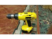 Dewalt 14W Hammer drill with 2 batteries , charger and carry case