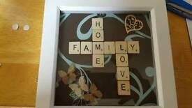 6x6 Scrabble Photo Frame