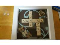 6x6 Scrabble Photo Frame