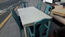 John Lewis dinning table + 6 chairs shabby chic like Brand new