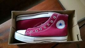 Red Converse (Chuck Taylor) All Star High Tops (Size 5 UK)