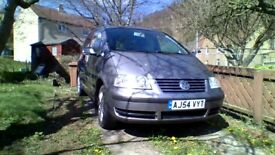 VW Sharan, 2005, 1.9TDi. Well looked after car with no nasties waiting. Mot'd Nov.