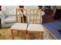 2x wooden Chairs