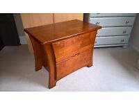 Two Drawer Tropical Hardwood Bedside Table