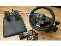 Logitec G26 Racing wheel for PS3 and PC