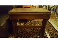 Beautiful Solid wood and leather piano stool