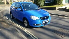 2005 VOLKSWAGEN POLO 1.2 PETROL 3 DOOR HATCHBACK MANUAL BLUE 2 OWNERS SERVICE HISTORY MOT SEP 2018