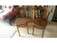 Pair of vintage 1950's bentwood cafe chairs