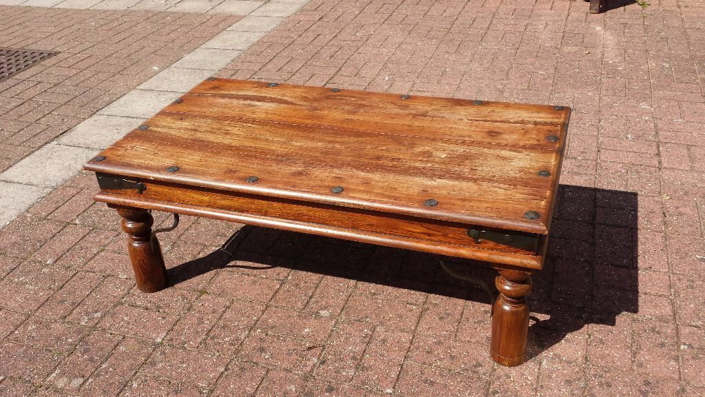 Indian Wood Coffee Table In Torquay Devon Gumtree