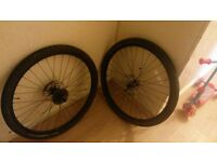 """26"""" disc wheels with shimano hubs"""