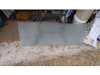Opaque Glass Splash-back 116CM wide x 44CM high (approx)