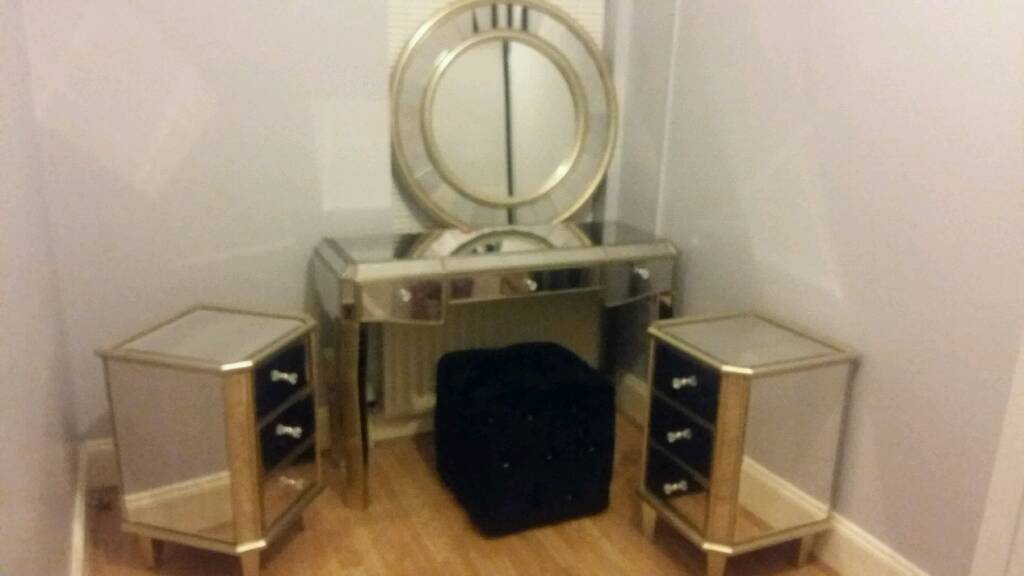 Champagne mirrored bedroom set from next
