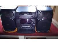 Mini Stereo System with 5-CD Panasonic SA-AK17
