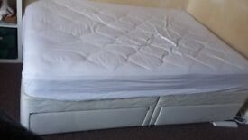 Double Bed and Mattress, with Storage