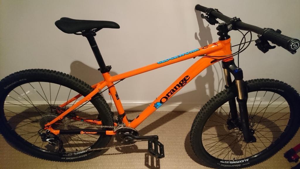 Medium 2017 Orange Clockwork 120 Mountain Bike