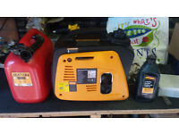 Impax generator inverter, mint cond, with fuel can and oil.