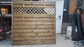 One decorative fence panel