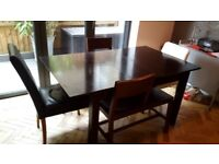 Moving sale - dining table and benches, single bed, two 3-seater sofas, bedside table