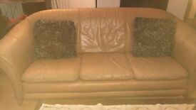 Leather sofas and coffee tables