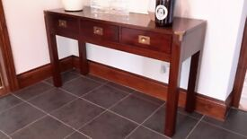 Hall console table, 3 drawers, high quality