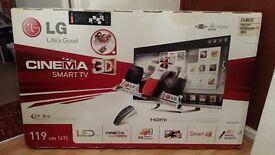 LG 47LM67OT LED plus & 3D & Smart Frameless TV with Magic Remote & Normal Remote & 5 Glasses
