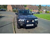 Vauxhall Frontiera Automatic Diesel 2002 blue in good condition 1 owner 4 x4