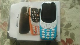 BLUE NOKIA 3310 BRAND NEW INCLUDES PAY AS YOU GO EE SIM, ORIGINAL BOX AND CHARGER