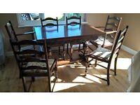 Jaycee dark oak dining suite.