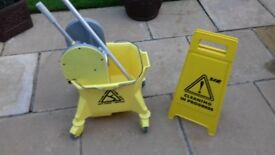 Large Mop Bucket with Wringer on Wheels