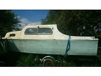 Freeman 22 projet boat with trailer.