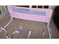 Lindam Pink Portable Bedrail