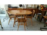 1960s ercol table and chairs