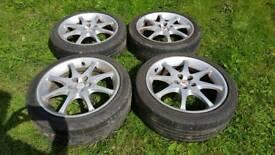 Toyota Celica T-sport wheels & tyres x 4
