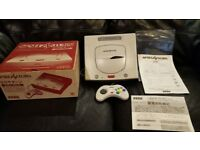 White Japanese Sega Saturn console