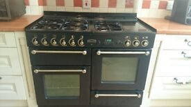 Rangemaster 110 dual fuel and extractor