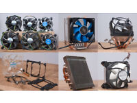 Job-lot of CPU Coolers (10x): Intel, AMD, Gelid, Scythe, Deep Cool, and Arctic